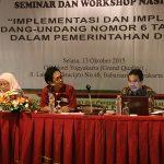 DPPM UII & Yayasan Damandiri Selenggarakan Seminar Nasional UU Desa